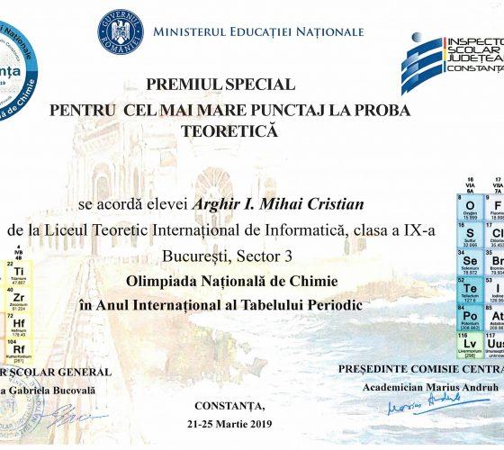 Arghir Mircea ONCh Special Prize-1