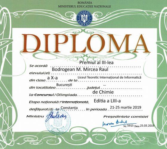 Bodrogean Mircea Raul ONCh Premiul III