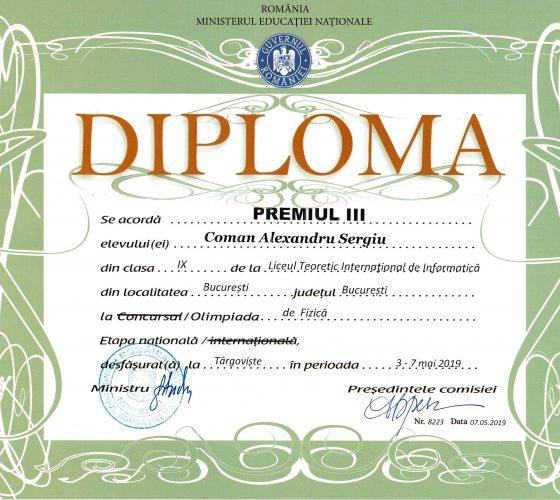 Coman Alexandru Sergiu_ONF_Premiul_III