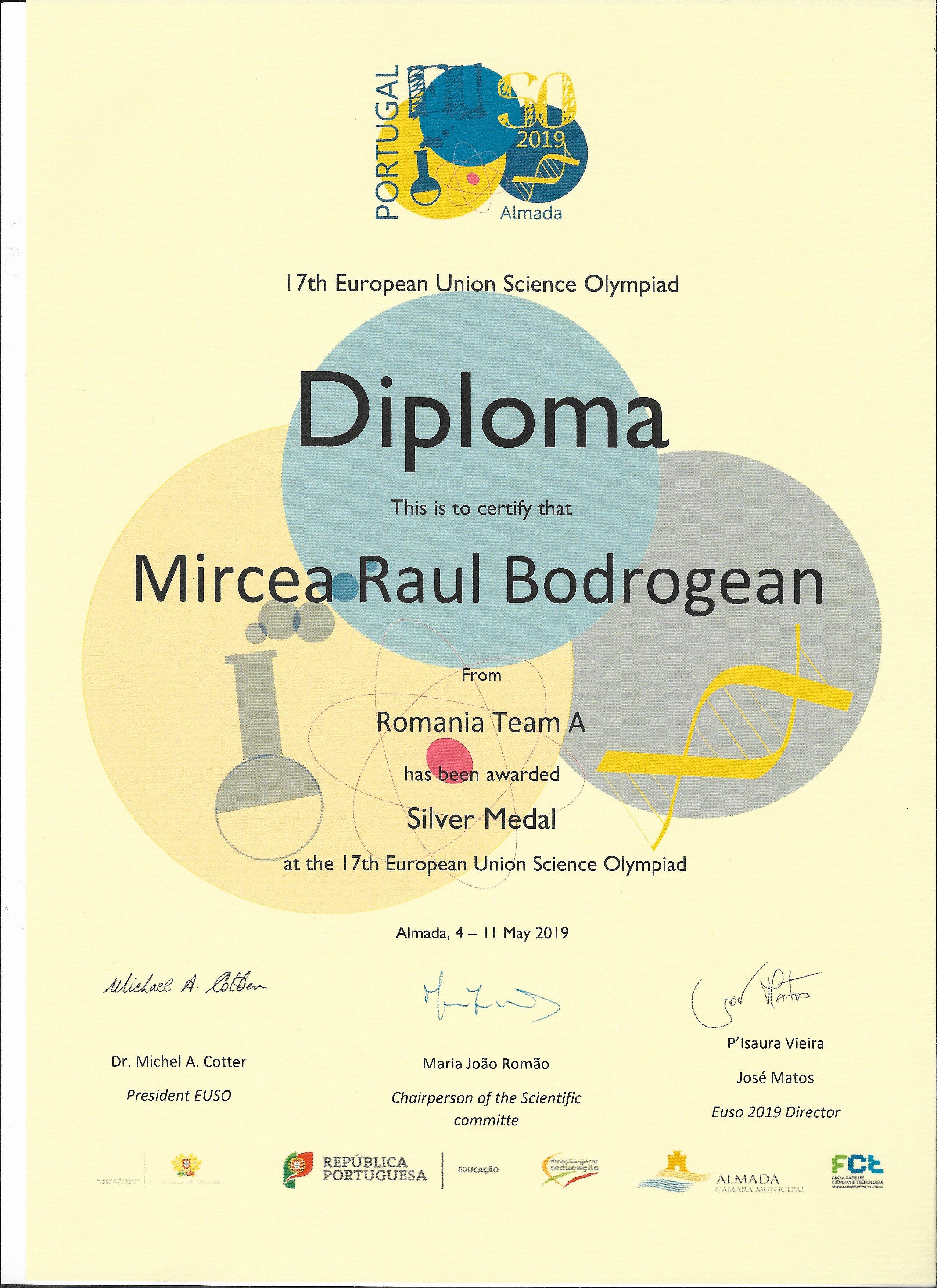 diploma euso 2019